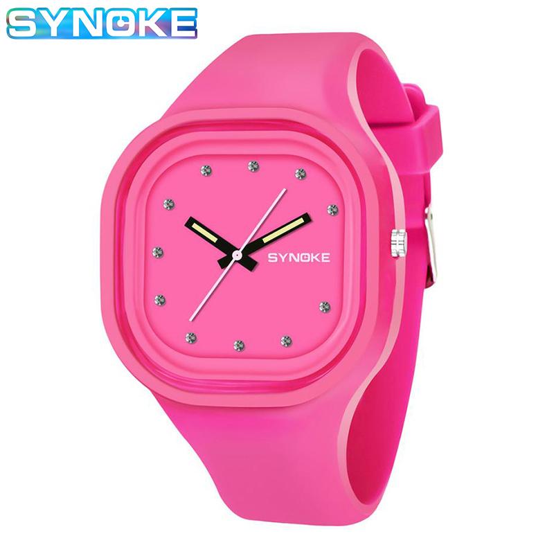 SYNOKE Blue Black Watch For Girls Quartz Watch For Kids Boys Silicone Removable Strap Sport Watches Montre Enfant Garcon Sport