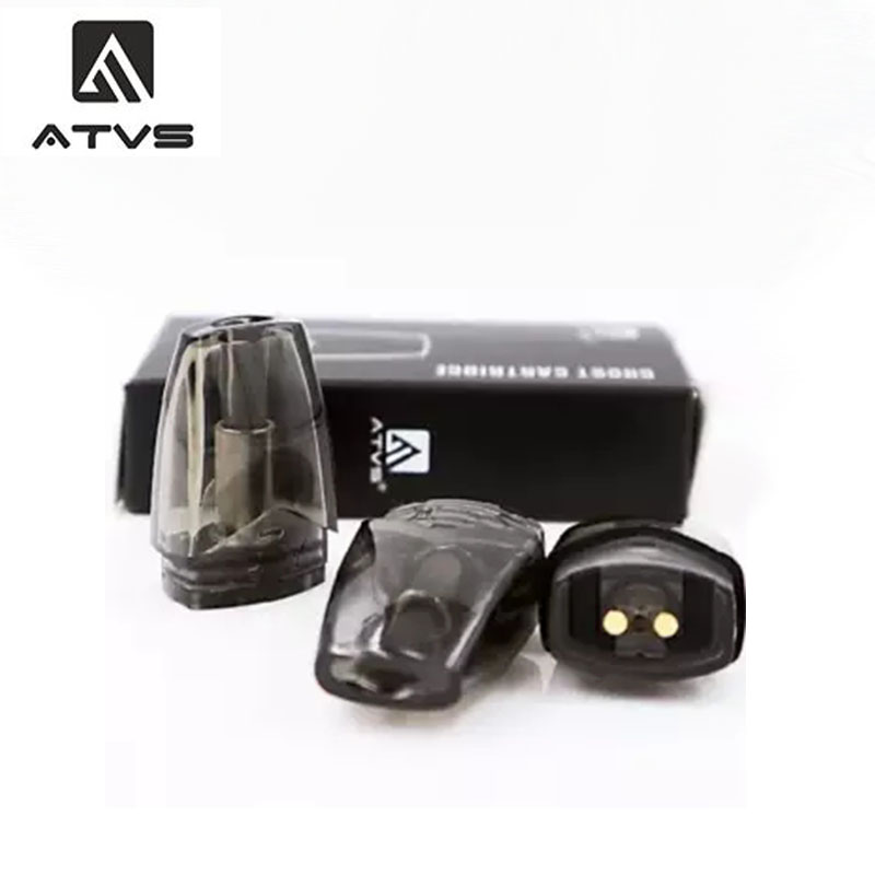 3pcs/pack ATVS Ghost Replacement Cartridge 1.8ml E-Juice Capacity For Ghost Portable System Kit