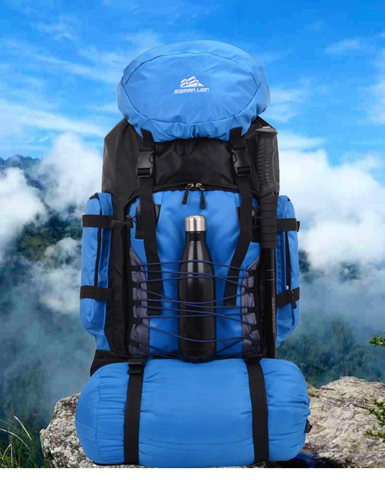 90L Travel Bag Camping Backpack Hiking Army Climbing Bags Trekking Mountaineering Mochila Large Capacity Sport Rucksack XA857WA