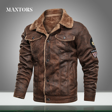 Tactical-Jackets Pilot Coat Men Bomber Winter Fleece Male Casual Warm Thick Wool Liner
