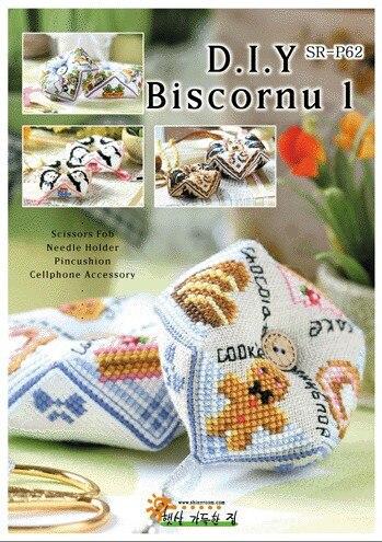 Cross Stitch Pin Needle Cushion 14ct 18CT Biscornu Needlework DIY Kit 25 Styles