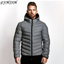 Winter Mode Katoenen Kleding Winddicht Warm Casual Jacket Merk Heren Hoodie Rits Shirt Streetwear Rits Jas(China)