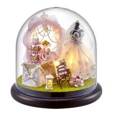 Cutebee DIY миниатюрный дом с мебелью, светодиодная музыкальная Пылезащитная крышка, модель, строительные блоки, игрушки для детей, Casa De Boneca B21