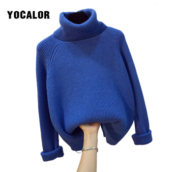 Turtleneck Women Jersey Sweater Winter Warm Female Jumper Thick Sweaters Knitted Pullovers Top Pull Hiver Femme Autumn Knitting turtleneck warm women sweater thick autumn winter knitted femme pull high elasticity soft female pullovers sweater
