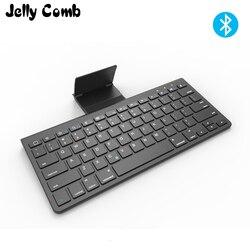 Jelly Comb bezprzewodowa klawiatura Bluetooth do laptopa Tablet Smart TV z androidem nożyczki klawisze klawiatura Bluetooth z podstawką