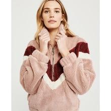Liva girl Winter Topcoat Fashion Women Faux Fur Jacket Coat Long Sleeve Turn Down Collar Zipper Pullovers Outwear Loose Female