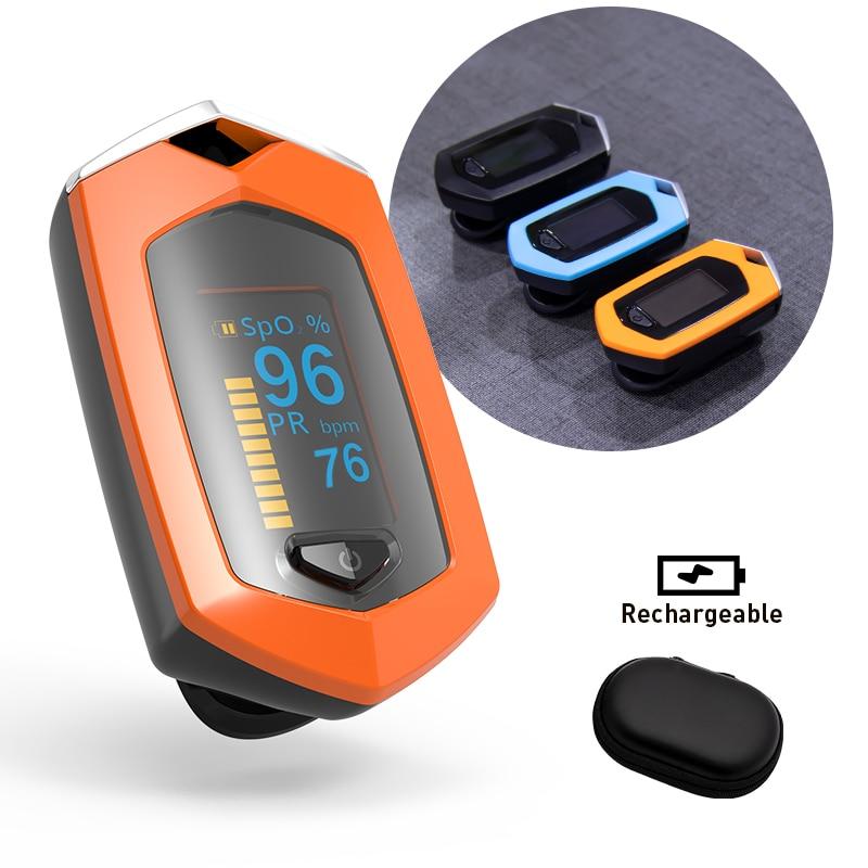 BOXYM Finger Pulse Oximeter Pulsioximetro SpO2 PR OLED Rechargeable CE Medical Oximetro De Dedo Heart Rate Monitor dřevěné dekorace do dětského pokoje