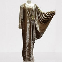 Maxi-Dress Dashiki African New-Style Women for Classic Loose Clothes-Islamic-Robe