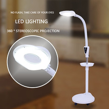 Professional LED Lamp Cold Light 16 Times Magnifying Glass Lamp Floor Lamp Shadowless Lamp Magnifier For Beauty Nail Tattoo