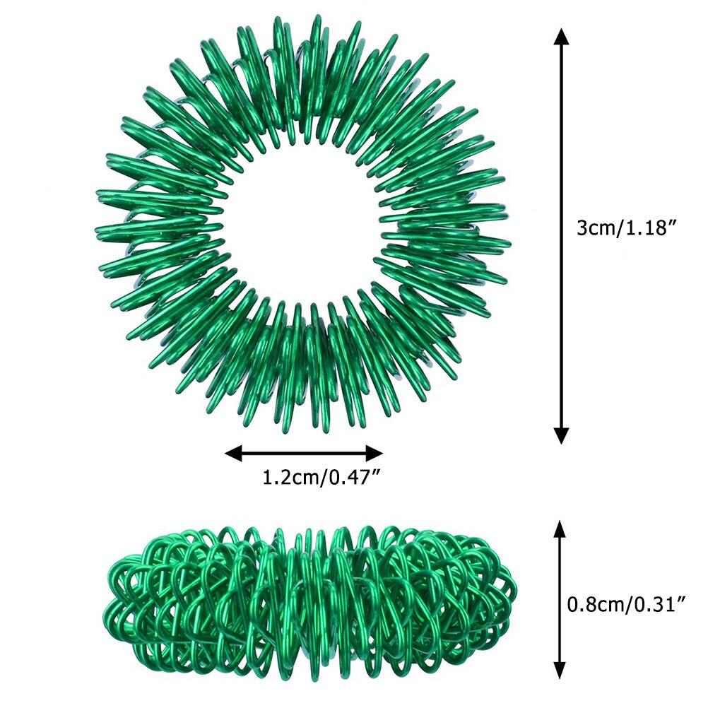 Toys Finger-Rings Spiky Stress Fidget-Sensory Silent Relief 12pcs Acupressure-Rings-Set img3