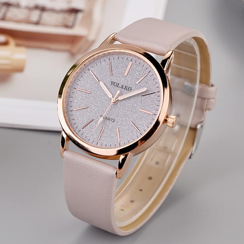 Luxury Brand Leather Quartz Women's Watch Ladies Fashion Watch Women Wristwatch Clock relogio feminino hours reloj mujer saati(China)