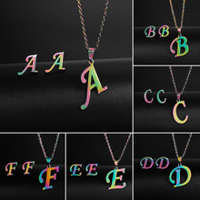 Birthday Gift for Friend Stainless Steel 26 Letters Initial Necklace for Women A-Z Alphabet Pendants Necklaces BFF Jewelry(China)