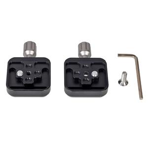Image 3 - Xiletu braçadeira de tripé de liga de alumínio, braçadeira de placa de liberação rápida de dois sentidos, para arca swiss QR 50B