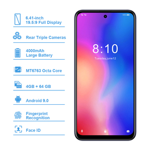 Image 2 - Global version HOMTOM P30 pro MT6763 Octa Core 4GB 64GB Smartphone 6.41Inch Android 9.0 Rear 13MP Triple Cameras Mobile Phone