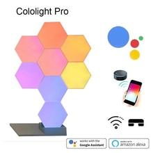 2019 New Quantum Lampe DIY LED Nachtlicht Kreative Geometrie Montage Smart APP Control Google Home Amazon Alexa Lampe Lifesmart