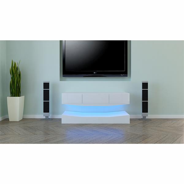 "47.24"" Tv Stand Living Room Furniture Led Modern Tv Table Entertainment Center Monitor Stand Flat Screen Riser Cabinet Console"