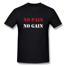 100% cotton No Pain Gain print casual mens o-neck t shirts fashion Mens Basic Short Sleeve T-Shirt