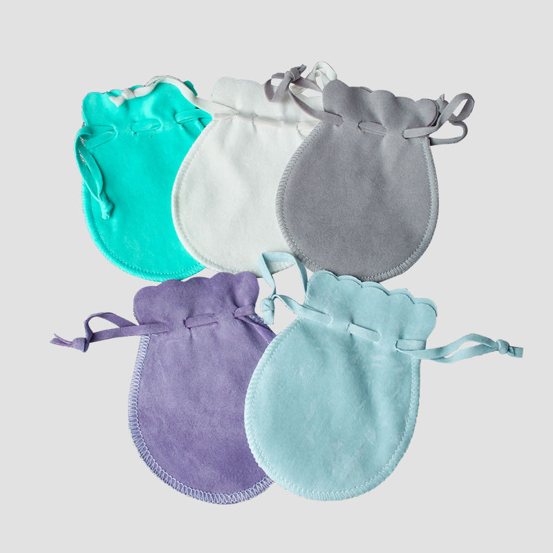 50pcs Multi Color 7x9cm Small Size Velvet Gourd Bags Christmas Wedding Party Packing Bag Drawstring Pouch Jewelry Accessories