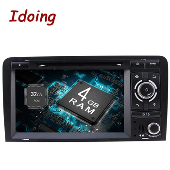 Idoing Android9.0/4G+32G/8Core/2Din For Audi A3 Car DVD Player Multimedia Video Head Device 3G WIFI SWC Dual TV OBD2 Fast Boot