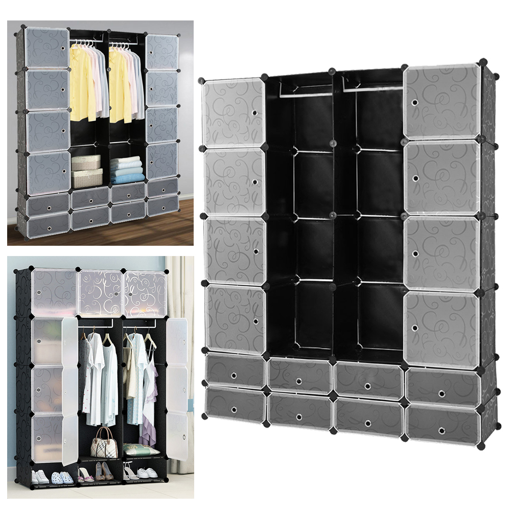 16 Lattice Wardrobe DIY Magic Assembled Wardrobe Simple Clothing Storage Cabinet Clothes Organizer