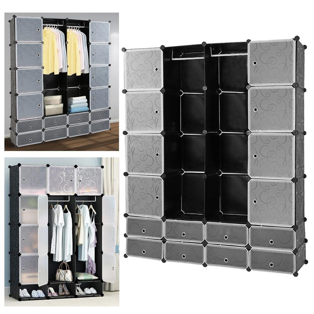 16 Lattice Wardrobe DIY Magic Assembled Wardrobe Simple Clothing Storage Cabinet Clothes Organizer