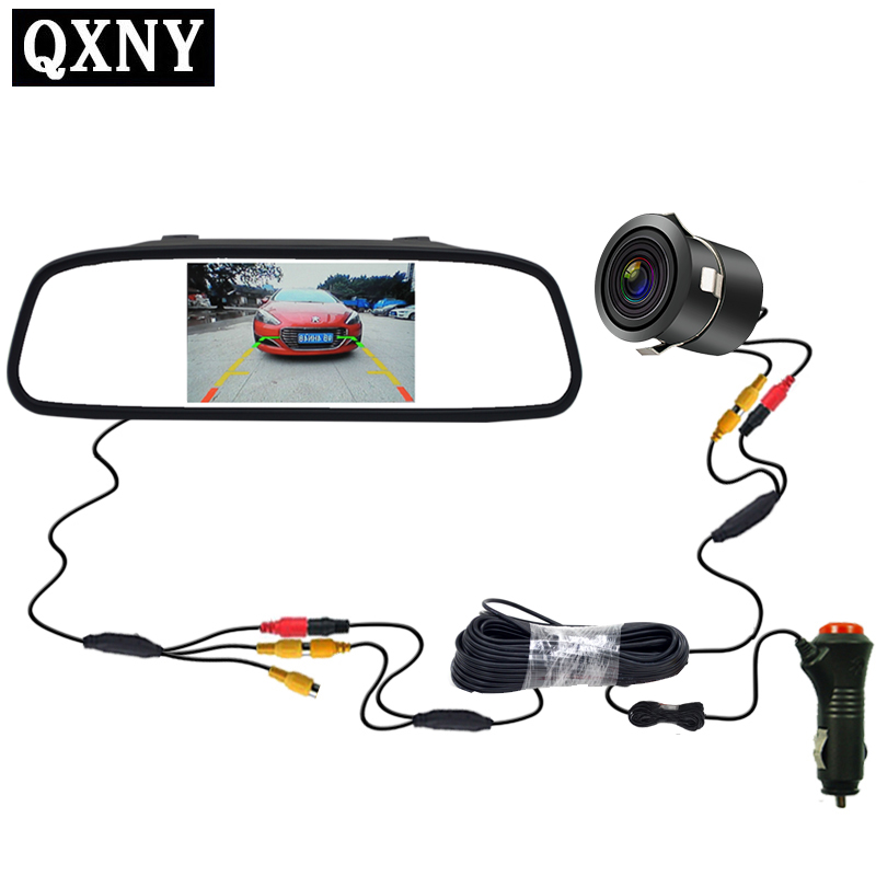 Vehicle-mounted CCD video automatic parking monitor, 18mm opening rear view camera with 4.3-inch vehicle rear view mirror