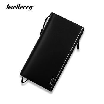 Baellerry 2020 Luxury Leather Wallet Men Long Male Designer Purse High Quality Business Clutch Men Wallets ivotkova luxury brand high quality pu leather men long bifold wallet purse vintage designer male carteira money clip slim wallet