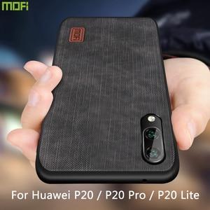 MOFi для huawei P20 чехол P20 Pro P20 Lite чехол Корпус Силиконовый противоударный джинсы искусственная кожа ТПУ