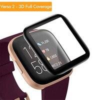 3D 보호 필름 커버 fitbit versa 2 용 강화 유리 versa2 Smart Watch fitbit versa2 용 전체 화면 보호기