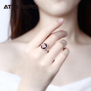 Image 5 - خاتم فضة إسترليني من Zultanite للنساء بتصميم حجر متغير اللون مجوهرات رائعة لحفلات الزفاف