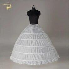 100% ใหม่ขายส่งกว้าง 6 Hoops Petticoat หรูหราสำหรับ Crinoline Underskirt เจ้าสาวงานแต่งงานอุปกรณ์เสริม Jupon Mariage 016