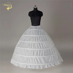 Image 1 - 100% New Wholesale Wide 6 Hoops Petticoat Luxury For Ball Gown Crinoline Underskirt Bridal Wedding Accessories Jupon Mariage 016
