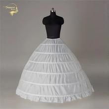 100% neue Großhandel Breite 6 Hoops Petticoat Luxus Für Ballkleid Krinoline Unterrock Braut Hochzeit Zubehör Jupon Mariage 016