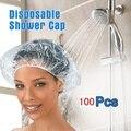 100 шт./лот, одноразовая эластичная шапочка для душа, Парикмахерская, водонепроницаемая шапочка для купания в отеле, одноразовая шапочка для ...