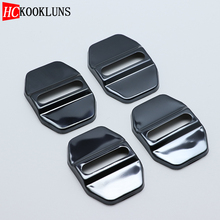 4PCS Auto Case Steel Door Lock Buckle Protective Cover For Mercedes-Benz benz E-class E class W212 W213 2009-2018 Car Styling
