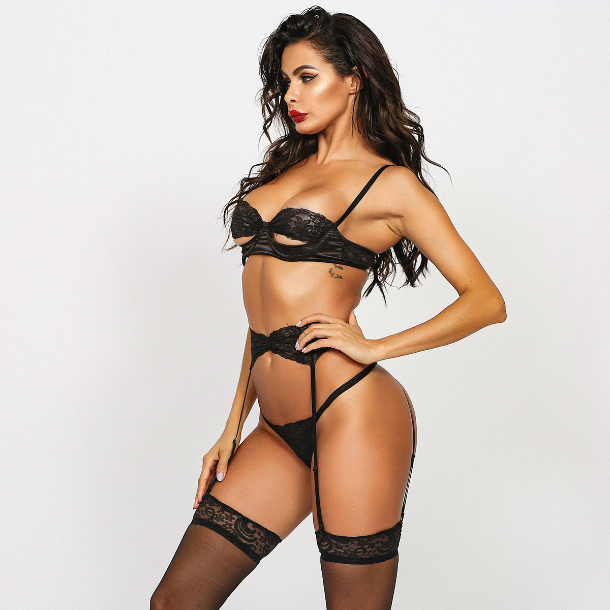 Hollow Lace Lingerie Women Underwear Set See Through Push Up Sexy Bra Patry Set Wholesale Bodycon Female New Lingeries