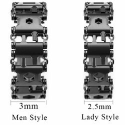 2.45cm Tread Outdoor Spliced Bracelet Multifunctional Wearing Screwdriver Tool Hand Chain Field Survival Bracelet Accessories