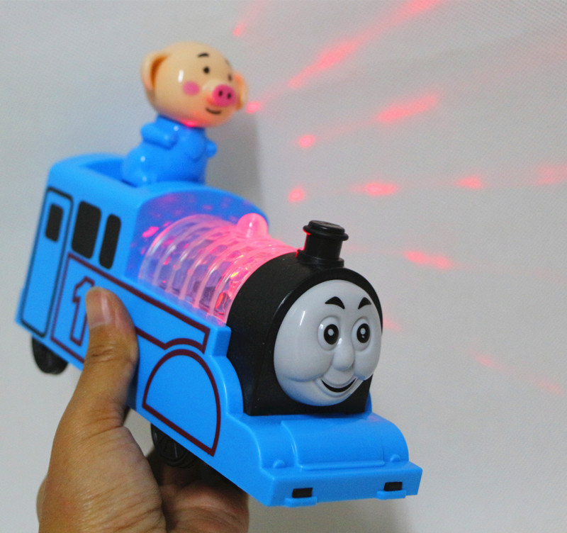 Wholesale Music Light 833-12 GIRL'S And BOY'S Gift Universal Cartoon Adorable Pig Train E-Bike CHILDREN'S Toy