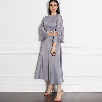 Kaftan Dubai Abaya Turkey Femme Arabic Hijab Muslim Fashion Robe Satin Dress African Dresses Abayas For Women Islamic Clothing