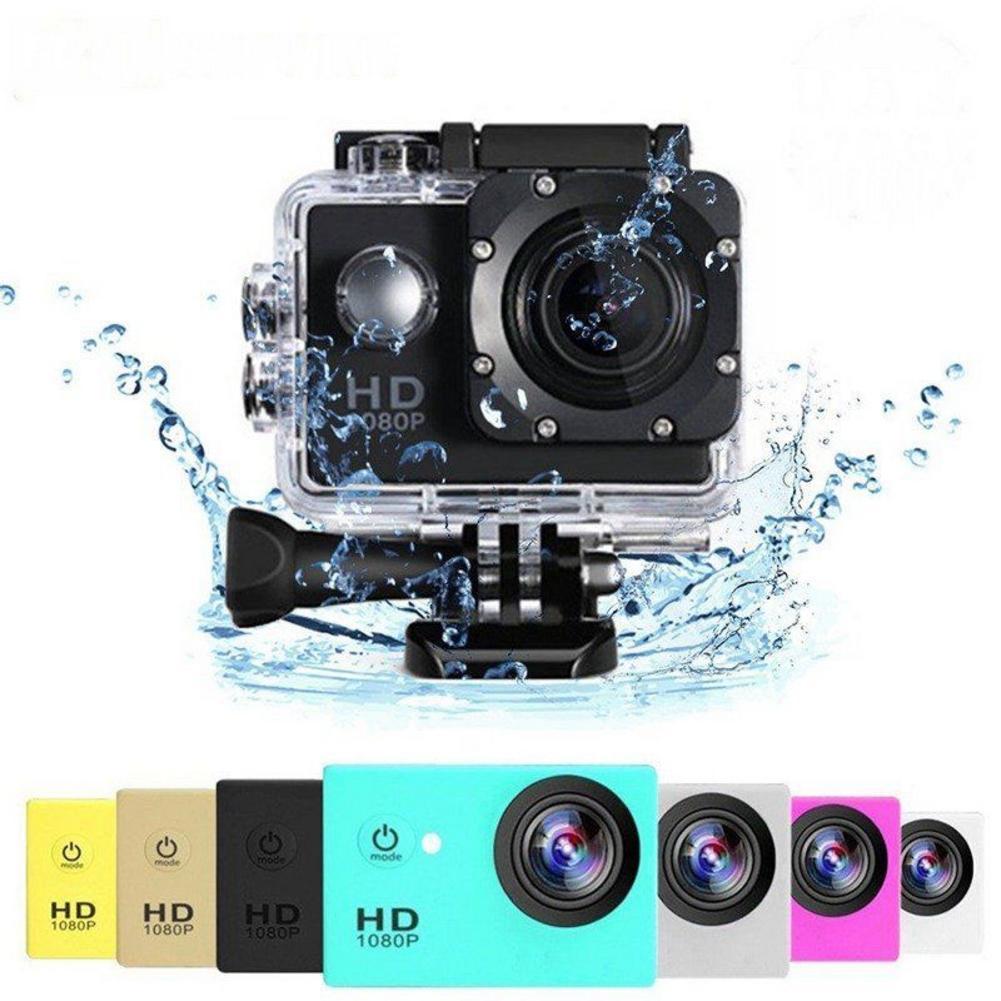 Wasserdichte Outdoor-Sport Action Mini Kamera Cam Bildschirm Farbe Wasserdicht Video Überwachung Unterwasser Kamera Volle HD 1080P