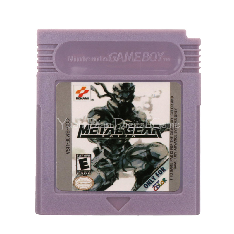 For Nintendo GBC Video Game Cartridge Console Card Metal Gear Solid English Language Version