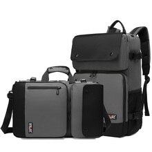 Деловой рюкзак мужской водонепроницаемый Оксфорд сумка через плечо 17 дюймов Сумка для ноутбука на открытом воздухе прочные дорожные рюкзаки XA277ZC