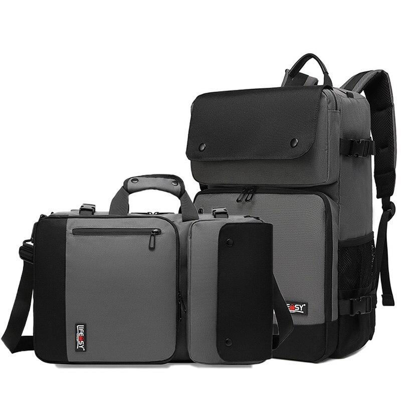 Business Backpack Men's Waterproof Oxford Crossbody Bag 17 Inch Computer Notebook Bag Outdoor Durable Travel Backpacks XA277ZC