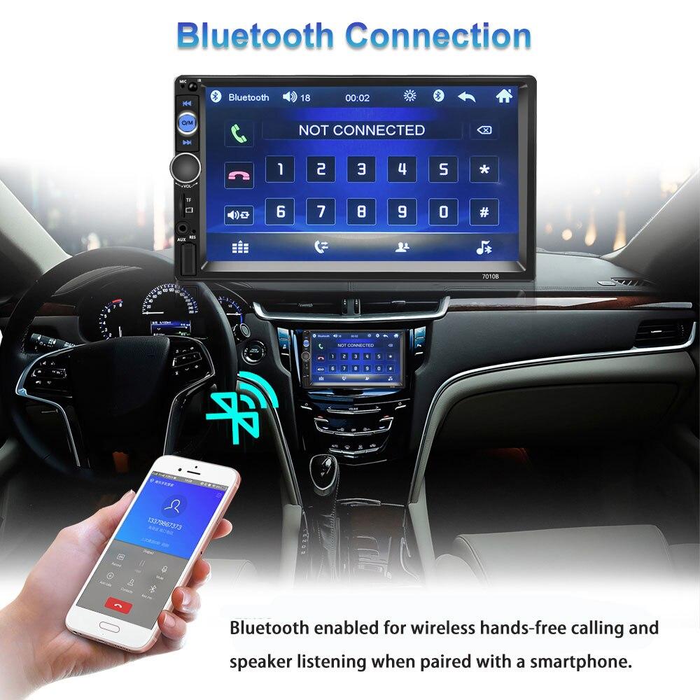 Podofo 2 Din Radio samochodowe z Bluetooth 7