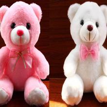 22 см мини плюшевый мишка, мягкие животные, плюшевая игрушка, милые розовые плюшевые куклы для ребенка, подарок на Рождество, детские мягкие белые мишки с бантом