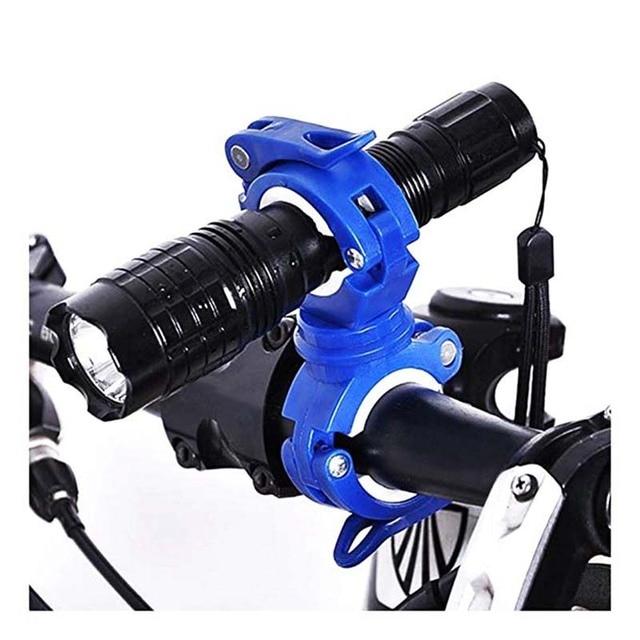 Clipe de braçadeira para ciclismo, clipe de lanterna para bicicleta de rotação 360 graus de montagem cabeça dianteira suporte clipe acessórios para bicicleta 3