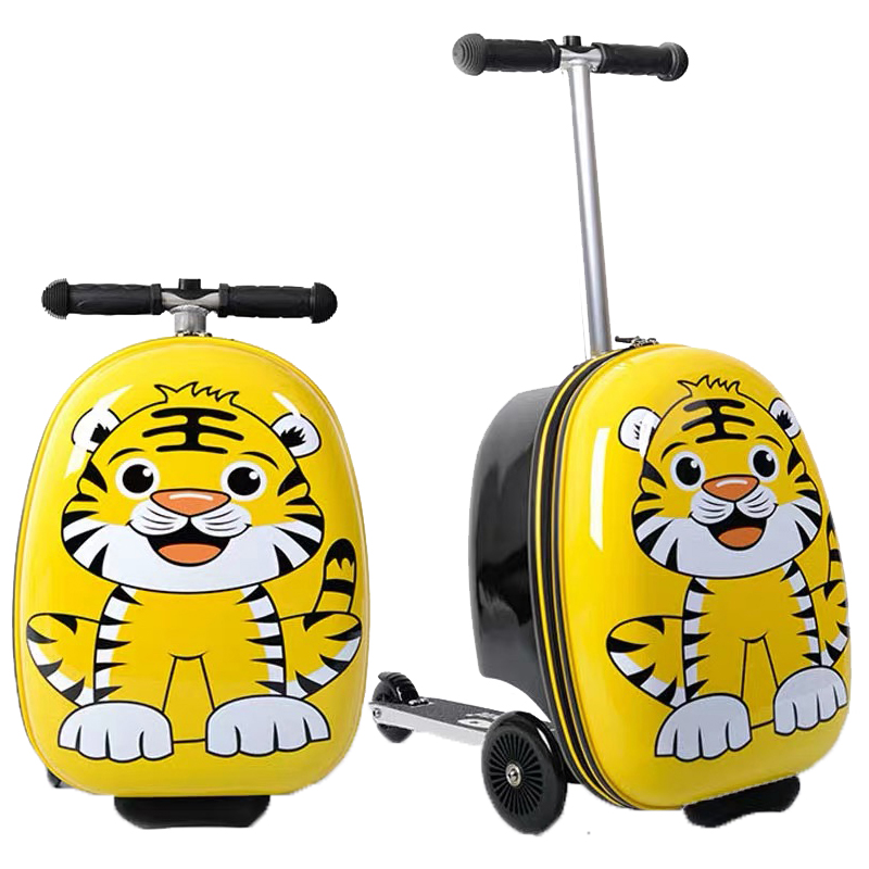 Portable Luggage Duffel Bag Kids Tiger Travel Bags Carry-on In Trolley Handle