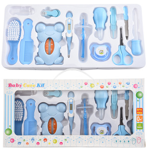 Image 3 - 13Pcs Baby Health Care Set Kids Grooming Kit Safety Manicure Nail Clippers Comb Emery Hairbrush Thermometer Baby Care Tool