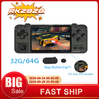 RK2020 Handheld Game Console RK3326 quad core Nostalgic 3.5 Inch Screen 32/64G Classic Game Retro Mini Video Game Controller