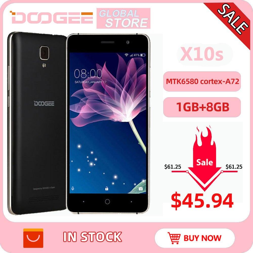 Фото. DOOGEE X10 мобильные телефоны 5,0 дюйма ips 8 ГБ Android6.0 смартфон Dual SIM MTK6570 1,3 ГГц 5.0MP